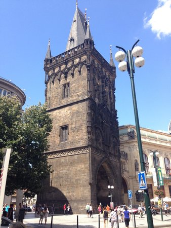 The Powder Tower: How it looks from the side of Prikop street.