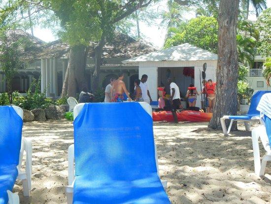 Almond Beach Resort: Equipment Hut