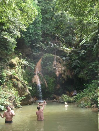 Environmental Interpretation Centre of Caldeira Velha: The torrrent from the waterfall