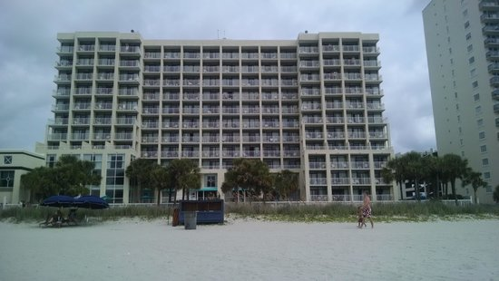 Ocean Drive Beach and Golf Resort: view of hotel from beach