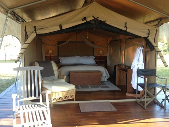 Spicers Canopy: Inside tent
