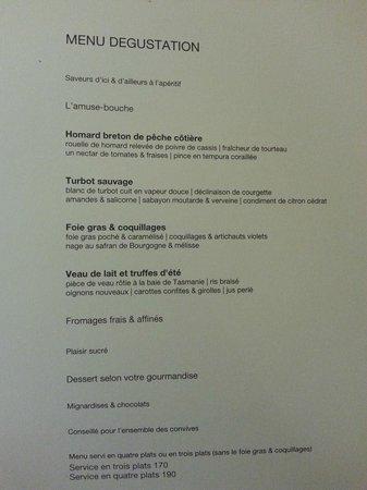Maison Lameloise: Le meilleur choix de menu été 2014