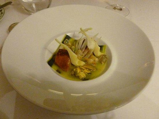 Chagny, Prancis: Le foie gras aux moules