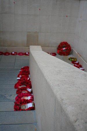 Menin Gate Memorial: Wreathes at Menin Gate