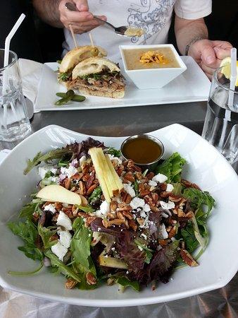 Bistro Forty-One: Apple/pecan salad & porchetta sandwich/leek & spud soup