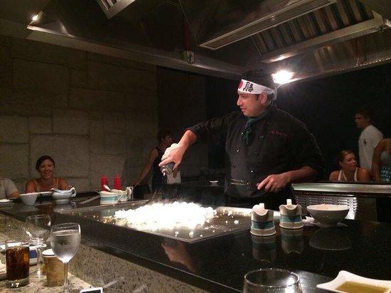Hard Rock Hotel Riviera Maya: Tepanyaki en el restaurante oriental