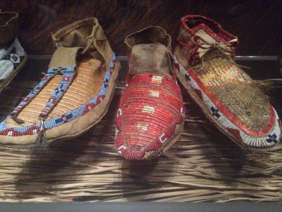 Bata Shoe Museum : Indigenous Tribe shoes