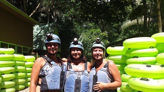 Belizean Shores Resort: cave tubing. .