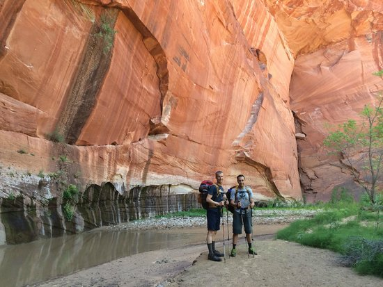 Zion Mountain School: Tim and Nick on our canyoneering trip with ZMS.