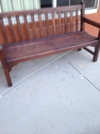 Extended Stay America - Boston - Marlborough: Bench at Entrance with cigarette butts