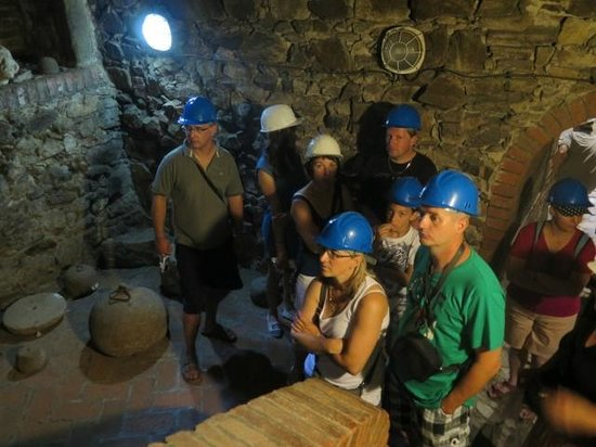 """The Hussite Museum: View from the tour of the """"catacombs"""" under the town"""