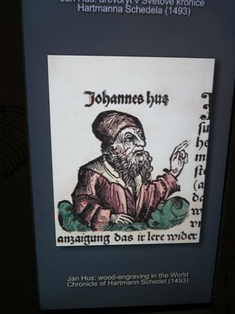 The Hussite Museum: A panel from a medieval-era book about John Hus