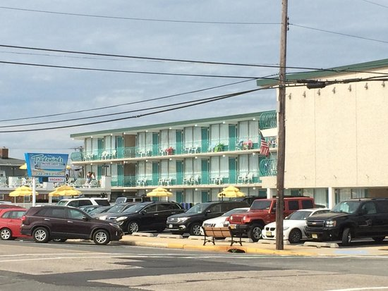 Tradewinds Motor Lodge: View from the restaurant across the street