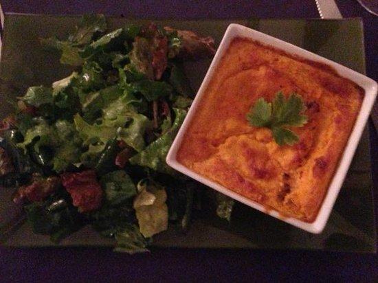 Ma Cuisine Resto: Souffle de zanahoria y queso con ensalada de hojas verdes