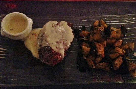 Ma Cuisine Resto: ESPECTACULAR lomo a la mostaza con berenjenas al wok