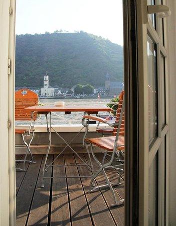 Rheinhotel St. Goar: View from Room 2- Spacious Room with Balcony