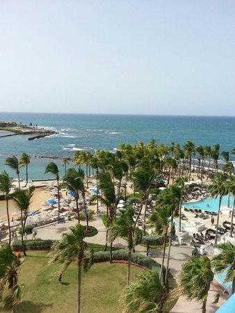 Caribe Hilton San Juan: Beautiful view from our room #640