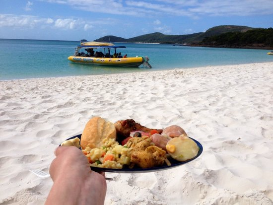 Ocean Rafting: Lunch sur la plage