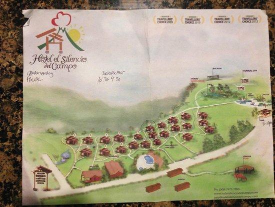 Hotel El Silencio del Campo: Hotel Map