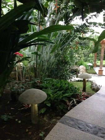 Hotel El Silencio del Campo: Walkway to Thermal Pools