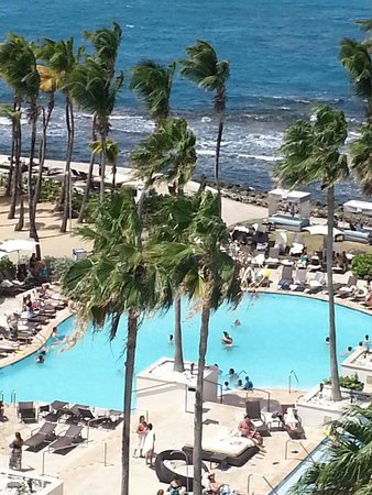 Caribe Hilton San Juan: View from our room #640
