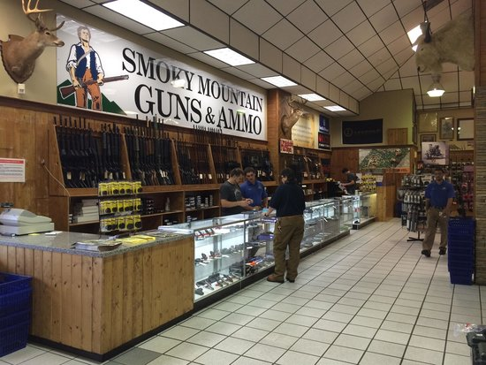 Sevierville, TN: The new gun section inside Smoky Mountain Knife Works called Smoky Mountain Guns and Ammo.