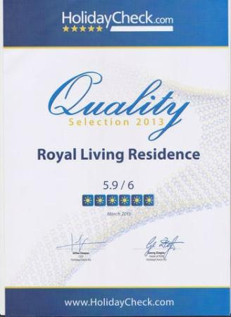Royal Living Residence, : Award
