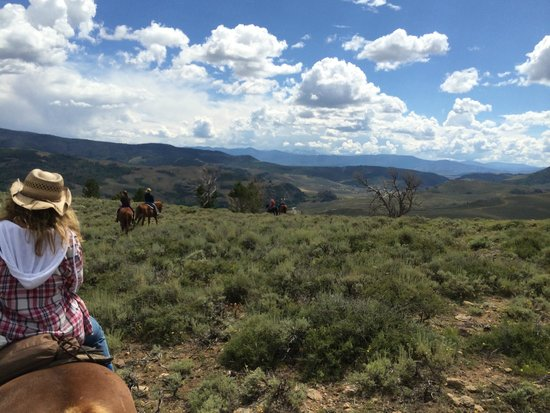 Drowsy Water Ranch: Riding the range, high above the ranch