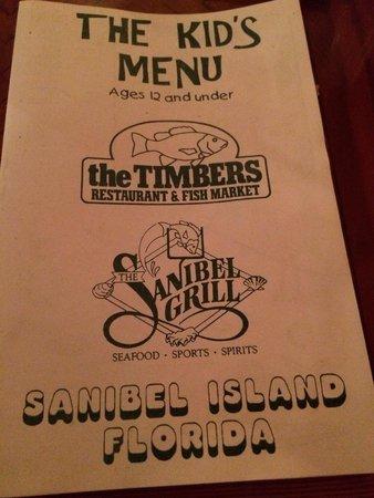 Timbers Restaurant and Fish Market: Kids menu