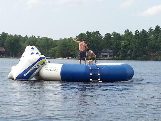 Bayview Wildwood Resort: Water trampoline!