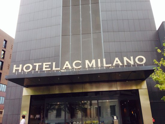 AC Hotel Milano : In front of the hotel that there is a passage to subway station at the right side.