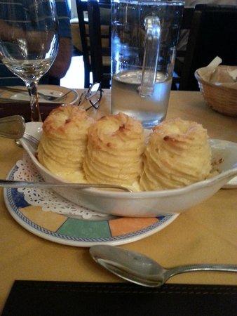 The Village Bistro: Creamed potato with cream cheese