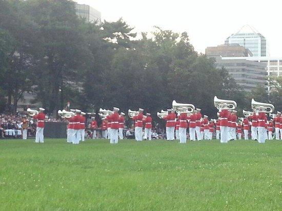 U.S. Marines Sunset Parade: Band playing
