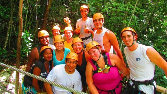 Belize Blue Morpho Tours: Zipline for the Family
