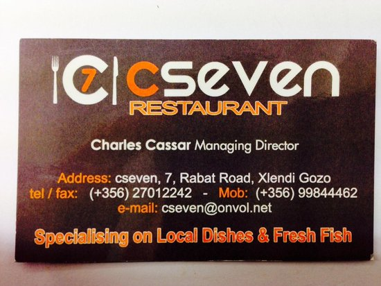 C Seven Restaurant: CSeven