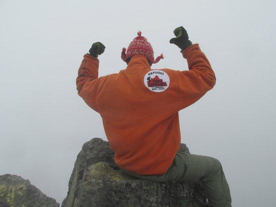 Hostal Refugio Terra Esperanza: At the summit of Vulcan Imbabura with Emerson