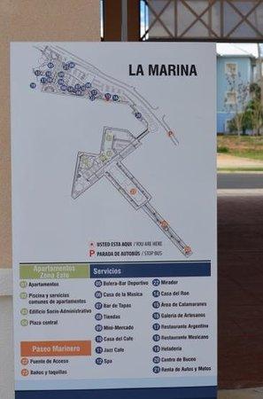 Hotel Meliá Marina Varadero: map of marina