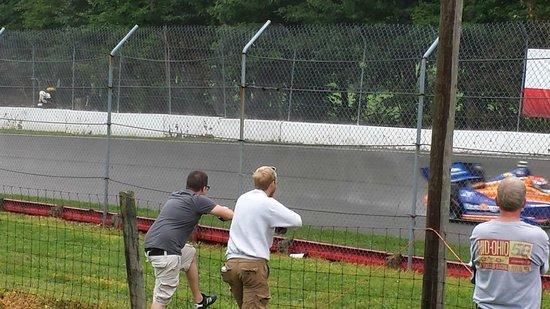 Mid Ohio Sports car course : 2014 Indycar practice in rain