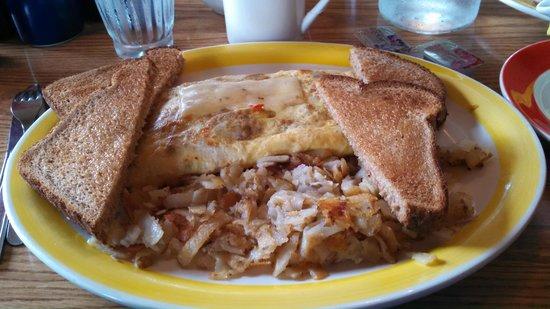 Running Bear Pancake House: chorizo burrito