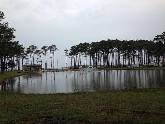 Cherrystone Family Camping Resort : Quiet morning at Cherrystone.