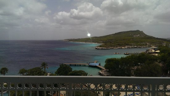 Hilton Curacao: sunset from our balcony