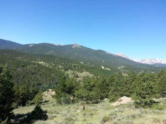 Allenspark, Kolorado: the view from our 3 hour ride