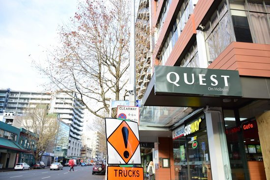 Quest on Hobson: Entrance on Hobson Street