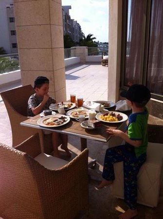 Beloved Playa Mujeres: room service breakfast on the terrace