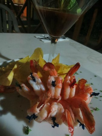 Playa Tortuga Hotel & Beach Resort: shrimp cocktail