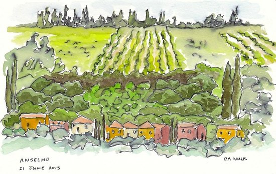 Cooking Vacations Italy: Sketch of Countryside
