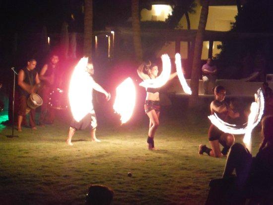Grand Velas Riviera Maya: Fire show at the Ambassador