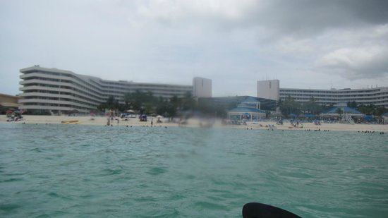 Melia Nassau Beach - All Inclusive: View of resort from Kayak