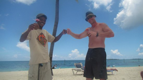 Melia Nassau Beach - All Inclusive: The Coconut Man and me.  I'm the one with the hat.