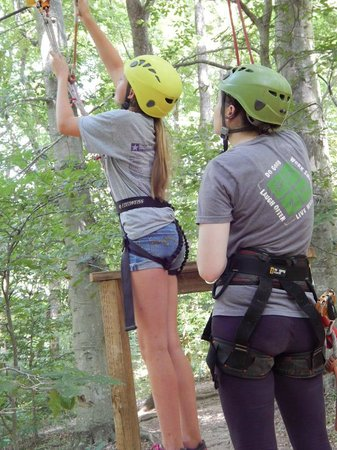 Adventureworks Zip Line Tours: Getting ready to fly